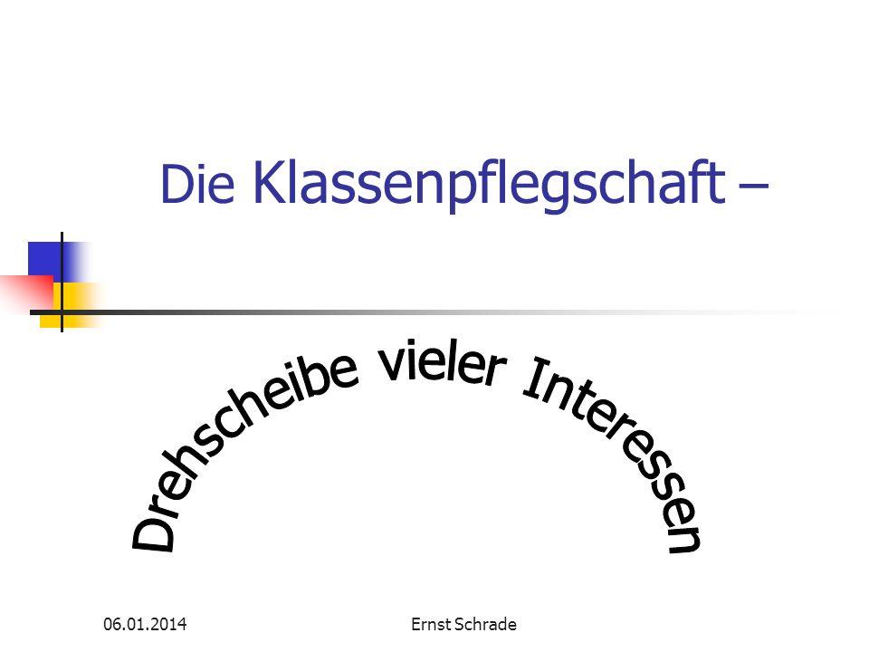 06.01.2014Ernst Schrade Die Klassenpflegschaft –