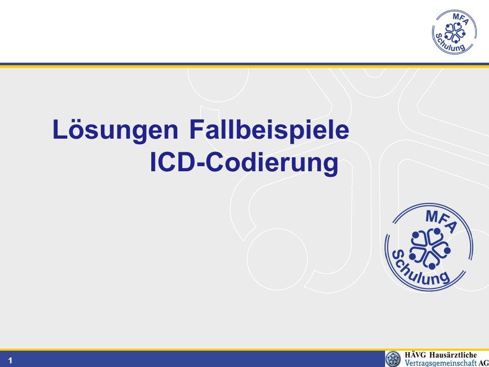 1 Lösungen Fallbeispiele ICD-Codierung