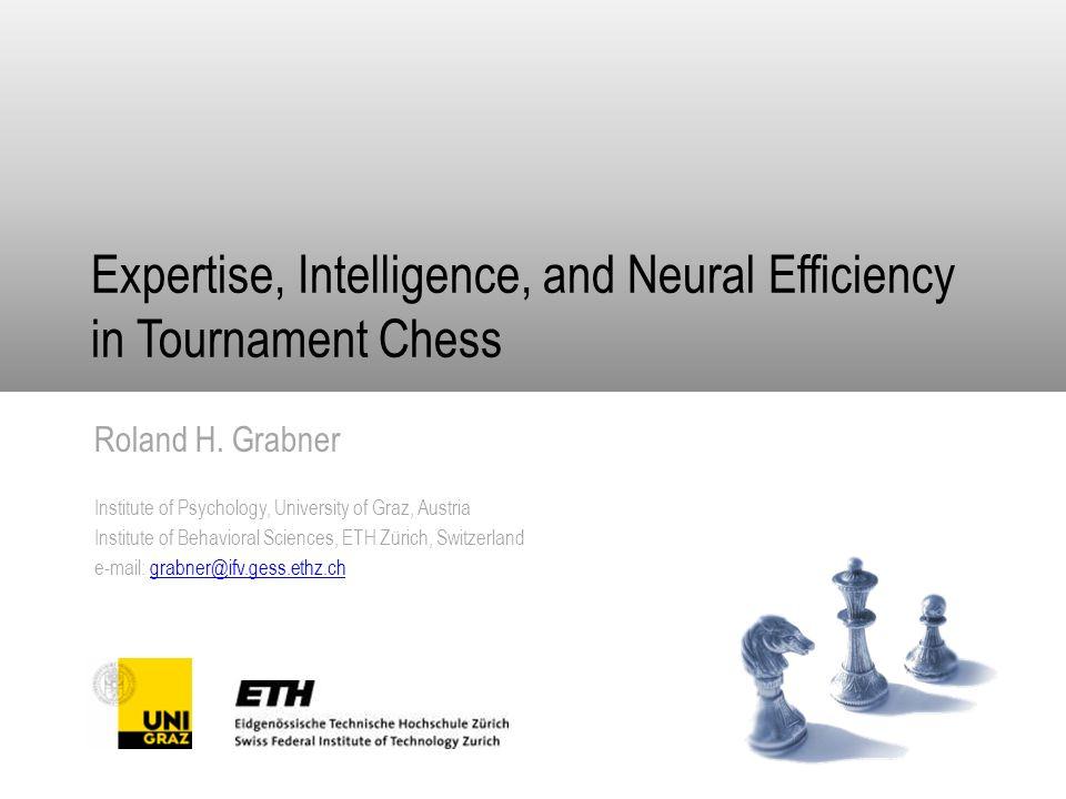Karpow - Schachakademie Hockenheim 12 Niedrigere Intelligenz Höhere Intelligenz Expertenn = 12 Novizenn = 12n = 11 N = 47 Turnierschachspieler IQ: 80-144 M = 118 SD = 14 ELO: 1325-2338 M = 1893 SD = 227