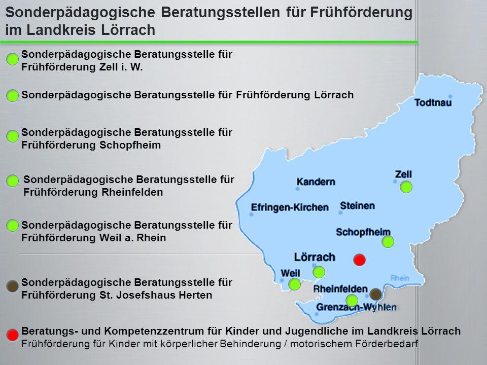 Beratungs- und Kompetenzzentrum für Kinder und Jugendliche im Landkreis Lörrach Frühförderung für Kinder mit körperlicher Behinderung / motorischem Fö