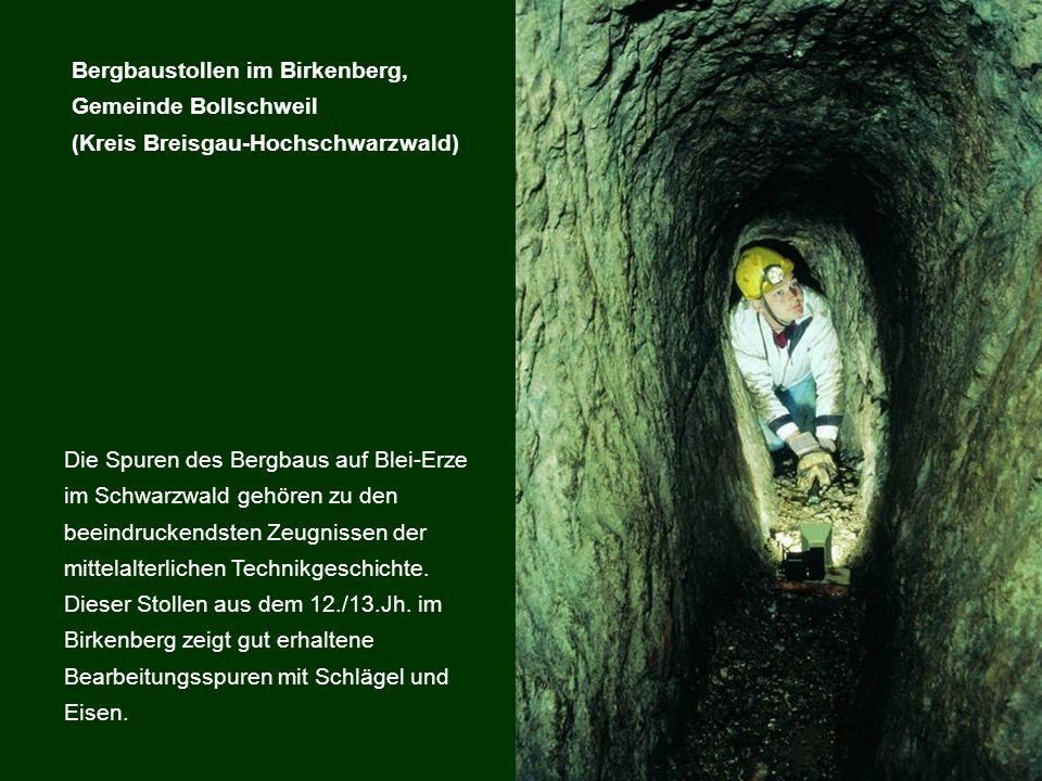 Die Spuren des Bergbaus auf Blei-Erze im Schwarzwald gehören zu den beeindruckendsten Zeugnissen der mittelalterlichen Technikgeschichte. Dieser Stoll