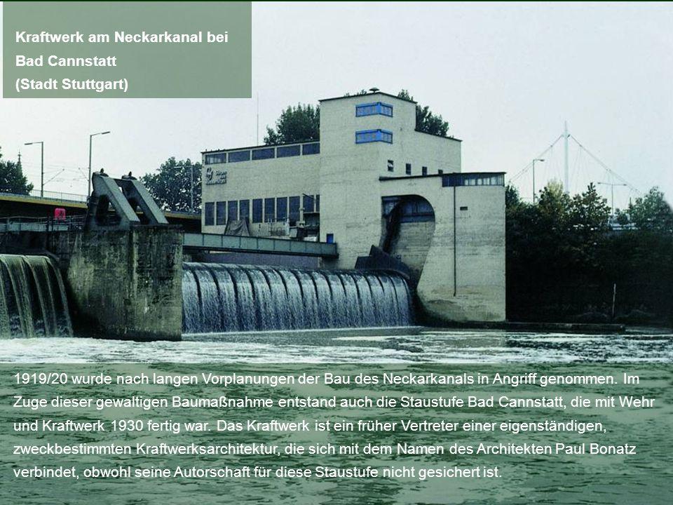 1919/20 wurde nach langen Vorplanungen der Bau des Neckarkanals in Angriff genommen. Im Zuge dieser gewaltigen Baumaßnahme entstand auch die Staustufe