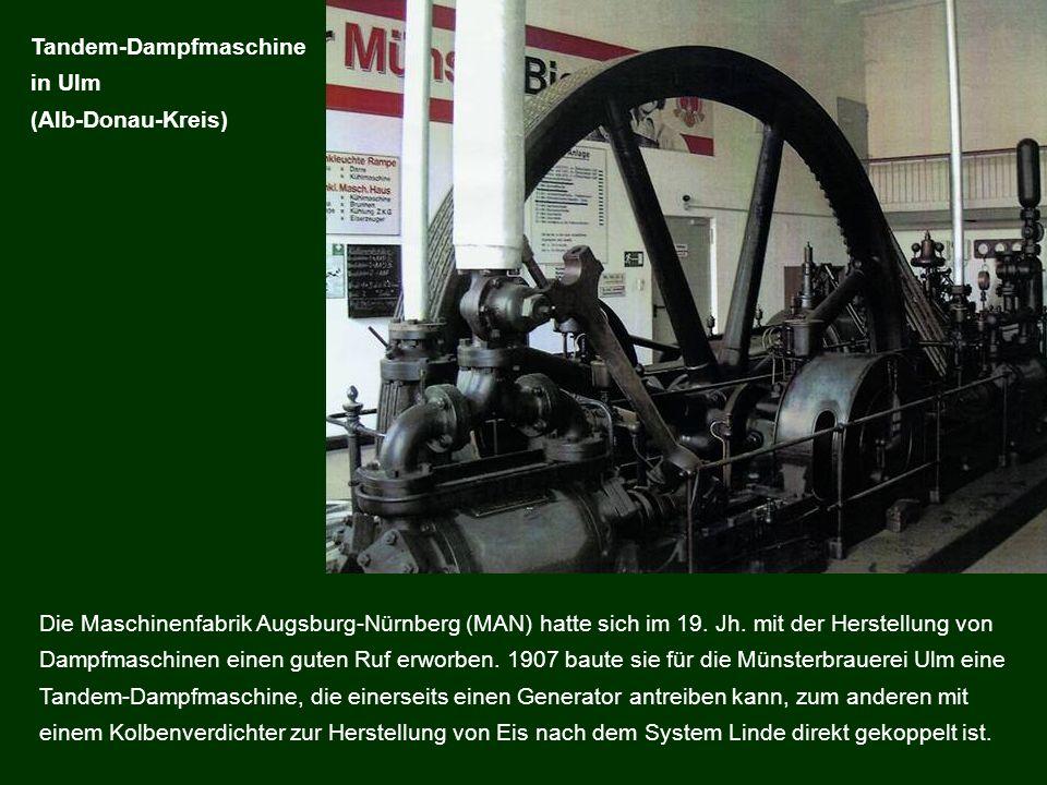 Die Maschinenfabrik Augsburg-Nürnberg (MAN) hatte sich im 19. Jh. mit der Herstellung von Dampfmaschinen einen guten Ruf erworben. 1907 baute sie für