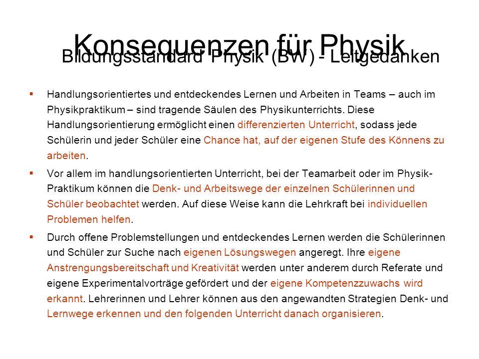 Handlungsorientiertes und entdeckendes Lernen und Arbeiten in Teams – auch im Physikpraktikum – sind tragende Säulen des Physikunterrichts. Diese Hand