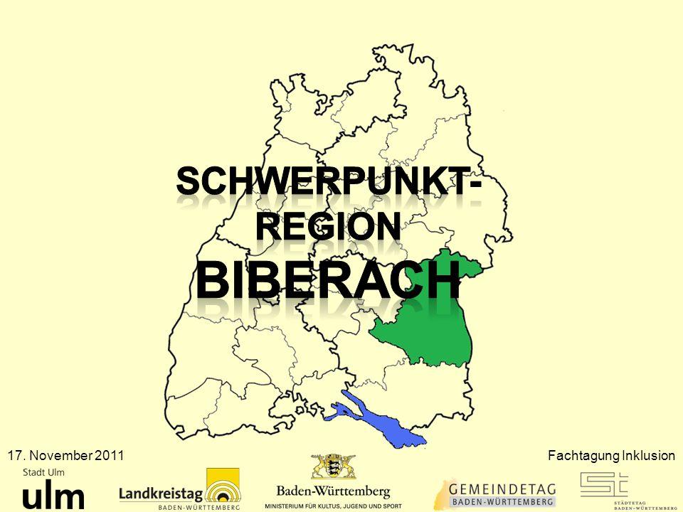 Schwerpunktregion Stuttgart 13 Grundschulen 3 Hauptschulen 2 Werkrealschulen 2 Realschulen 1 Sonderschule öff.