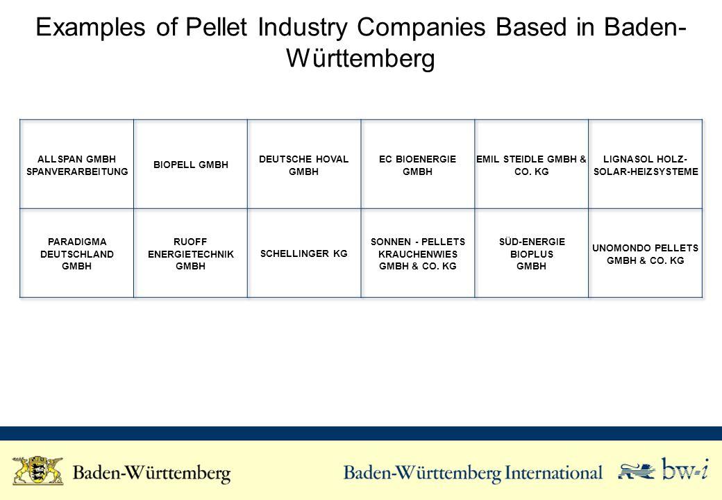 Examples of Pellet Industry Companies Based in Baden- Württemberg