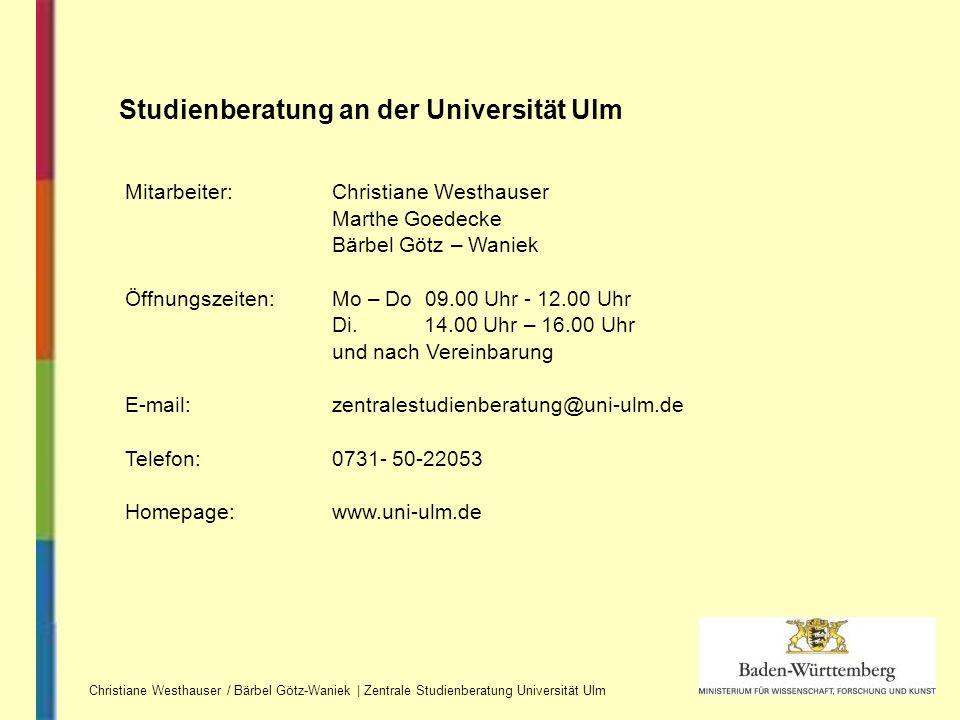 Mitarbeiter:Christiane Westhauser Marthe Goedecke Bärbel Götz – Waniek Öffnungszeiten: Mo – Do 09.00 Uhr - 12.00 Uhr Di. 14.00 Uhr – 16.00 Uhr und nac
