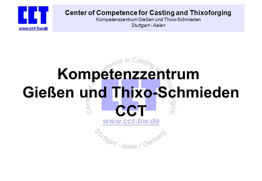 Center of Competence for Casting and Thixoforging Kompetenzzentrum Gießen und Thixo-Schmieden Stuttgart - Aalen Kompetenzzentrum Gießen und Thixo-Schm