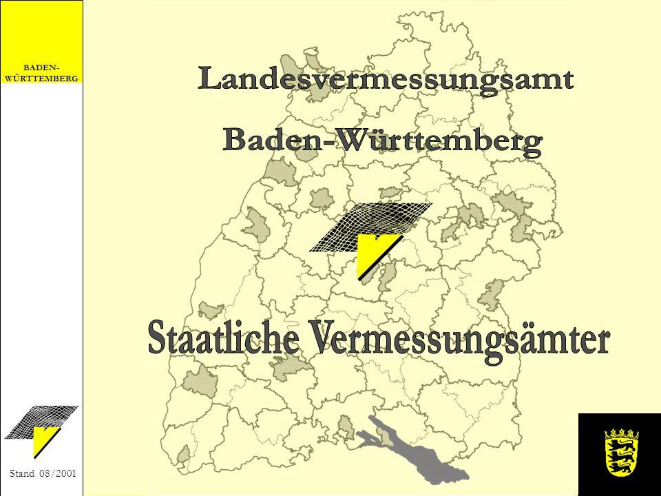 BADEN- WÜRTTEMBERG Stand 08/2001