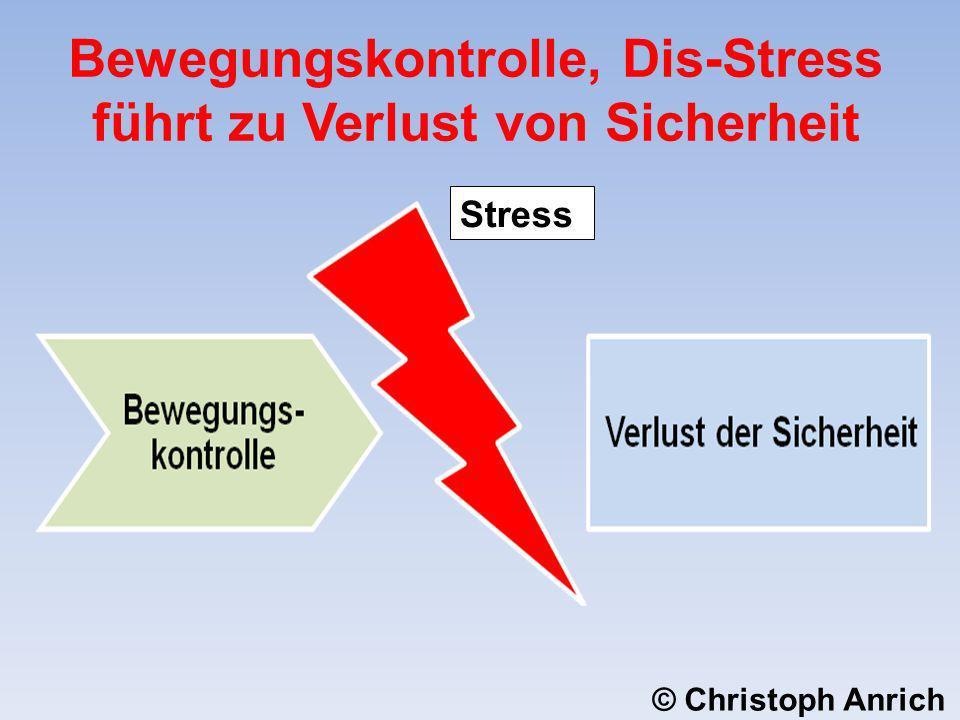 Stress Bewegungskontrolle, Dis-Stress führt zu Verlust von Sicherheit © Christoph Anrich
