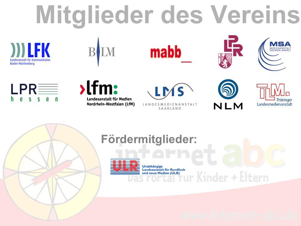 Mitglieder des Vereins Fördermitglieder: