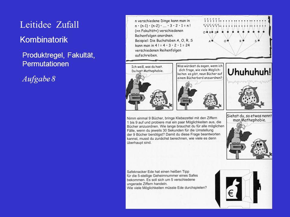 Kombinatorik Produktregel, Fakultät, Permutationen Leitidee Zufall Aufgabe 8