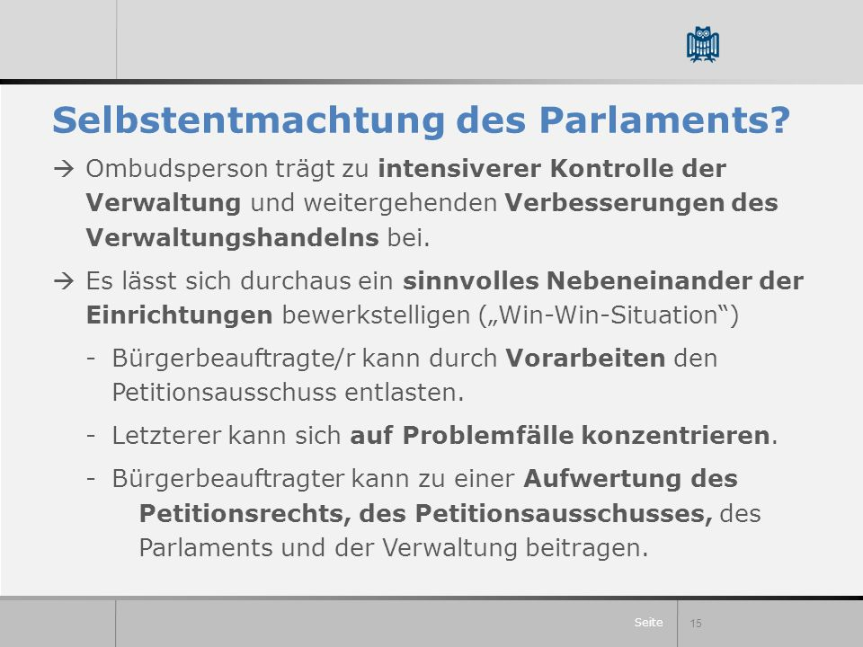 Seite Selbstentmachtung des Parlaments.