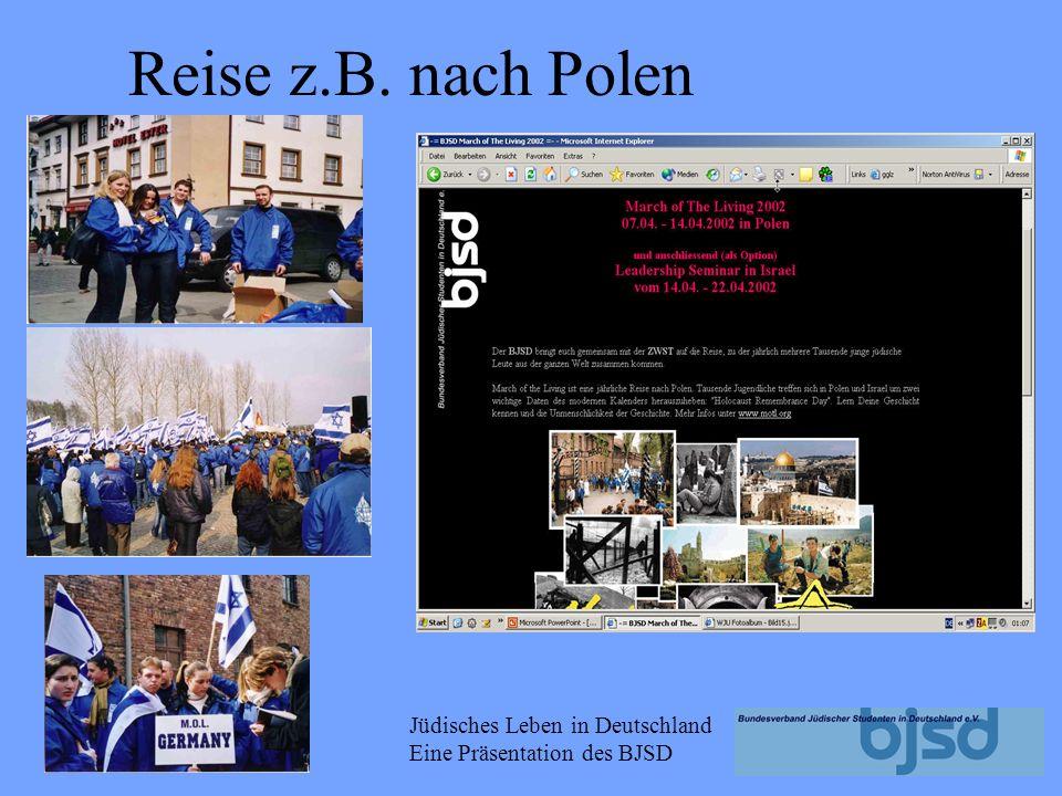 Jüdisches Leben in Deutschland Eine Präsentation des BJSD Prof. Dr. Michael Brenner (Prof. f ü r j ü dische Geschichte an der Ludwig-Maximilians- Univ