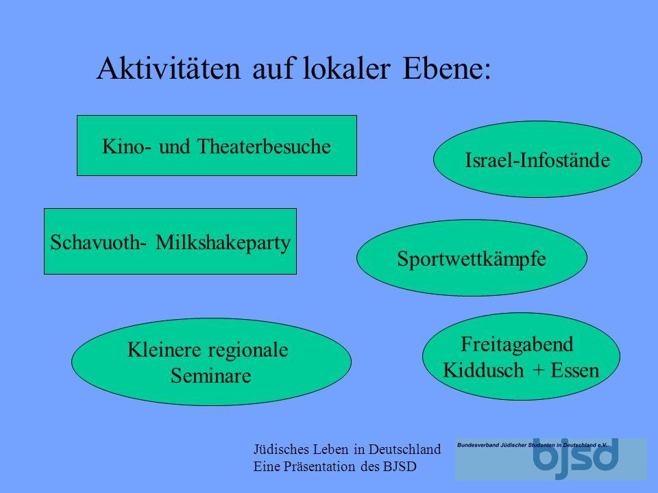 Jüdisches Leben in Deutschland Eine Präsentation des BJSD Die Landes- und Stadtverbände sind autonom entscheiden selbst über ihre Aktivitäten.
