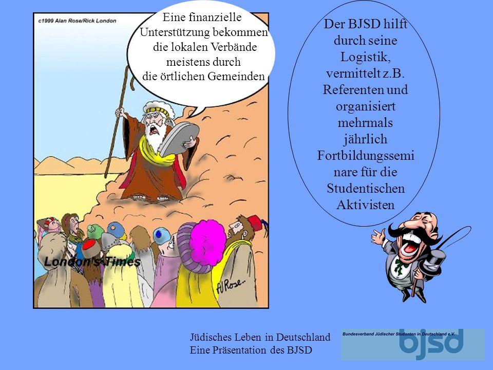 Jüdisches Leben in Deutschland Eine Präsentation des BJSD Aktivitäten auf lokaler Ebene: Kino- und Theaterbesuche Schavuoth- Milkshakeparty Israel-Inf