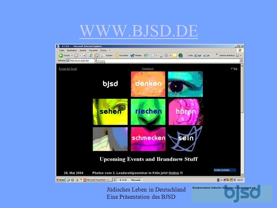 Jüdisches Leben in Deutschland Eine Präsentation des BJSD Mmmhhh so komme ich nicht weiter!!! Wo bekomme ich eine Antwort auf meine Frage...?? Was ist