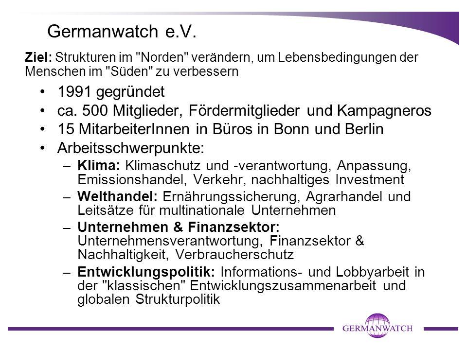 Wege zu einer nachhaltigen Klimapolitik im Flugverkehr Dr. Manfred Treber, Germanwatch Campustour 2009 Universität Tübingen 26. Juni 2009