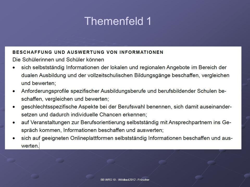 BB WRS 10 - Wildbad 2012 - Fröscher Themenfeld 1