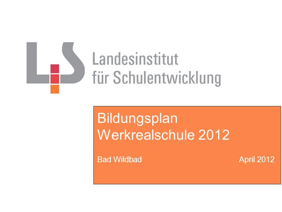 BB WRS 10 - Wildbad 2012 - Fröscher Grundlagen des Faches Zum neuen Fach Kompetenztraining und zu den weitergeführten Wahlpflichtfächern besteht eine enge Korrelation und ermöglicht somit ein integratives Vorgehen und Arbeiten.