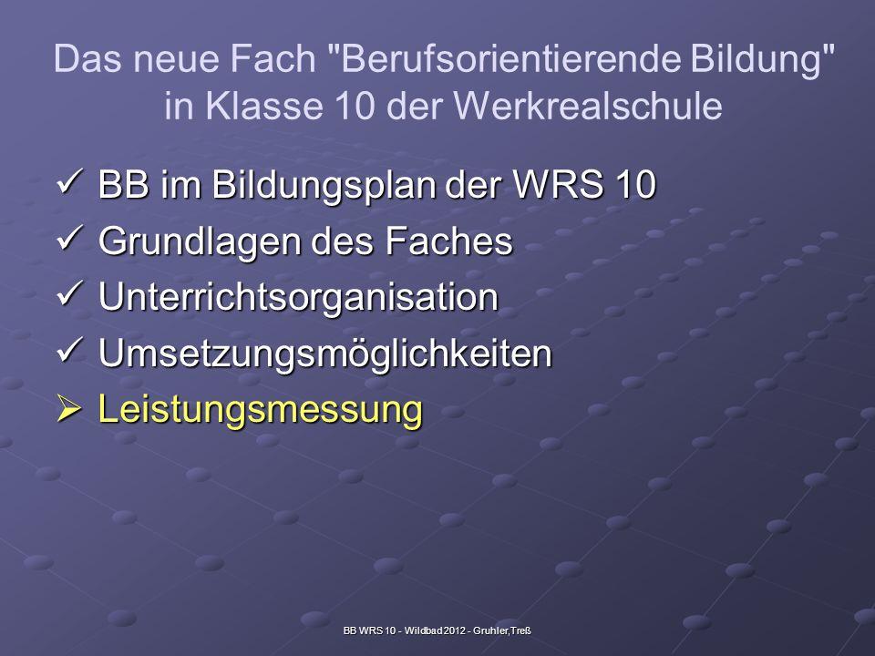 BB WRS 10 - Wildbad 2012 - Gruhler,Treß Das neue Fach