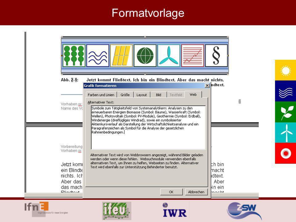 Formatvorlage