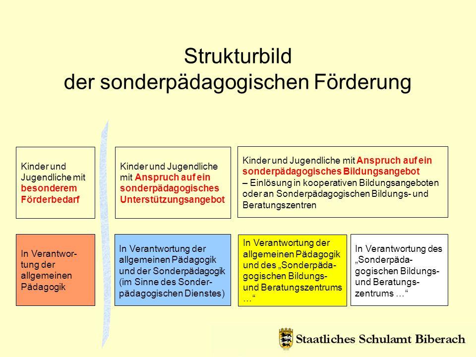 Strukturbild der sonderpädagogischen Förderung In Verantwor- tung der allgemeinen Pädagogik Kinder und Jugendliche mit besonderem Förderbedarf In Vera