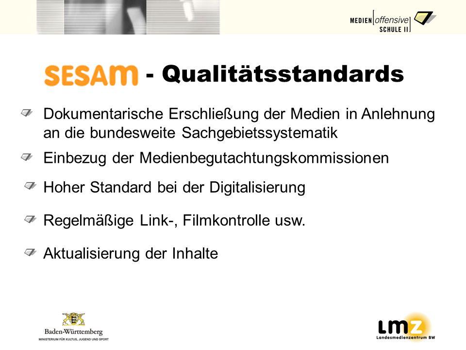 Einbezug der Medienbegutachtungskommissionen Dokumentarische Erschließung der Medien in Anlehnung an die bundesweite Sachgebietssystematik Hoher Standard bei der Digitalisierung Regelmäßige Link-, Filmkontrolle usw.