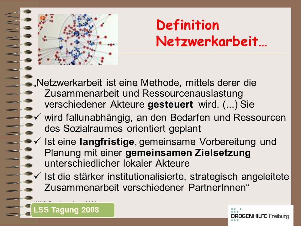 Definition Netzwerkarbeit… Netzwerkarbeit ist eine Methode, mittels derer die Zusammenarbeit und Ressourcenauslastung verschiedener Akteure gesteuert