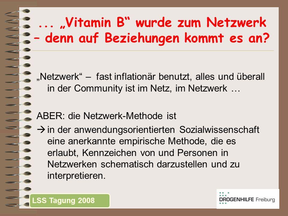 ... Vitamin B wurde zum Netzwerk – denn auf Beziehungen kommt es an? Netzwerk – fast inflationär benutzt, alles und überall in der Community ist im Ne