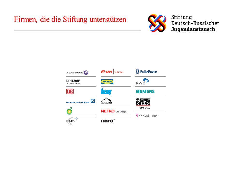 Das Ziel der Stiftung… Deutsche und russische Jugendliche sowie Schüler zusammenbringen