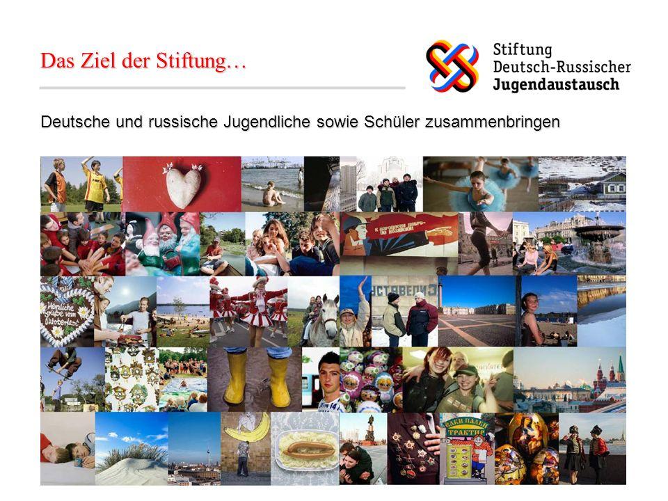 Förderbereiche Schulischer Austausch (Förderung seit April 2006) Außerschulischer Austausch (Förderung seit Oktober 2006) Beruflicher Austausch (seit April 2007 im Aufbau)