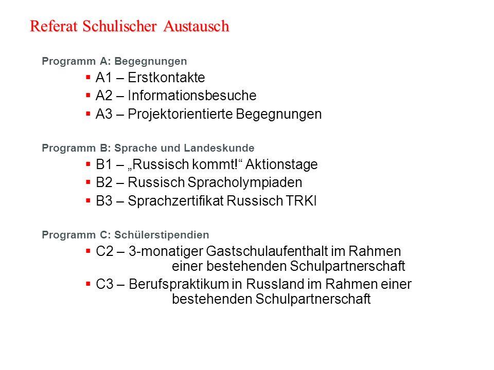 Hinweise zur Antragstellung Formal: Zentralstellenprinzip (Länderstellen; Verbandszentralstellen) Antragsfrist (für die Zentralstellen) 1.10.