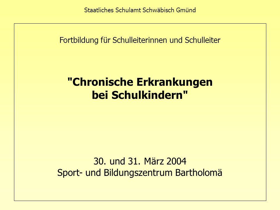 Staatliches Schulamt Schwäbisch Gmünd Fortbildung für Schulleiterinnen und Schulleiter