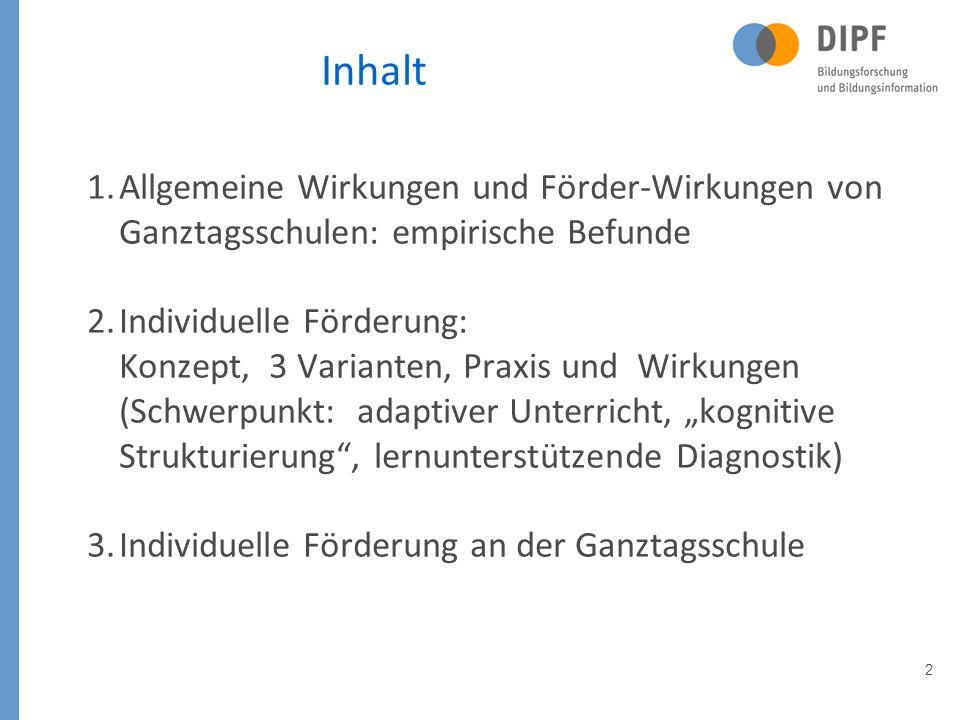 Vielen Dank für Ihr Interesse! klieme@dipf.de www.dipf.de klieme@dipf.de www.dipf.de