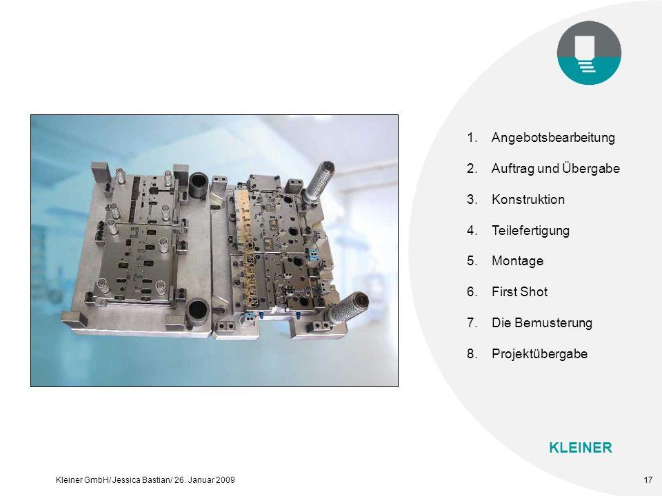 KLEINER Kleiner GmbH/ Jessica Bastian/ 26. Januar 200917 1.