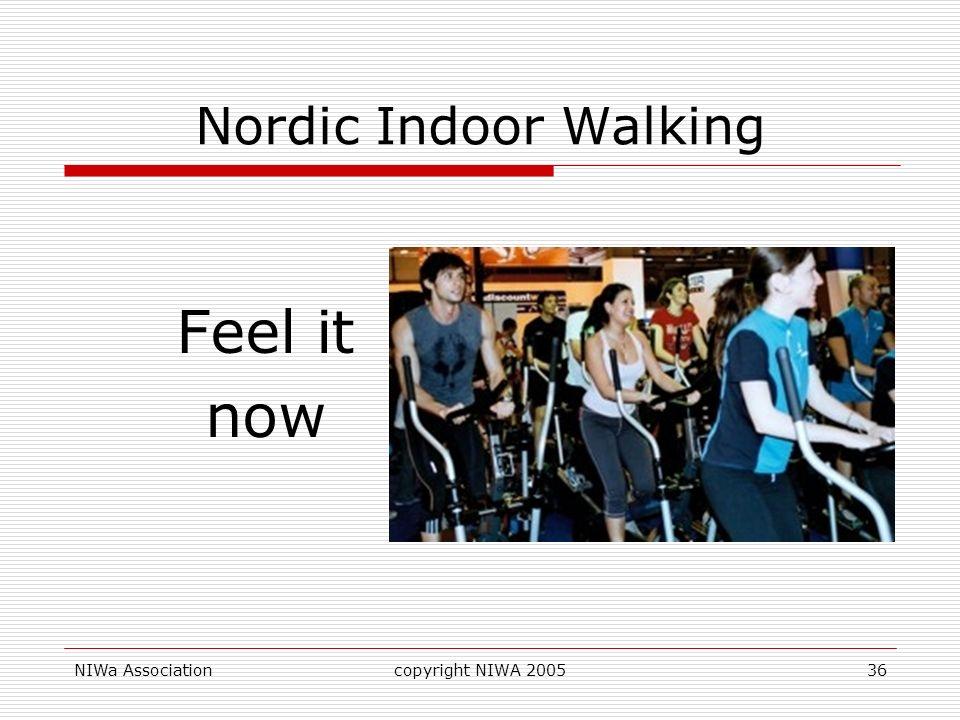 NIWa Associationcopyright NIWA 200536 Nordic Indoor Walking Feel it now