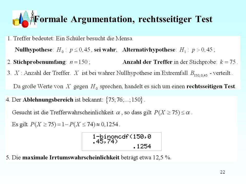 22 Formale Argumentation, rechtsseitiger Test Java-Applet