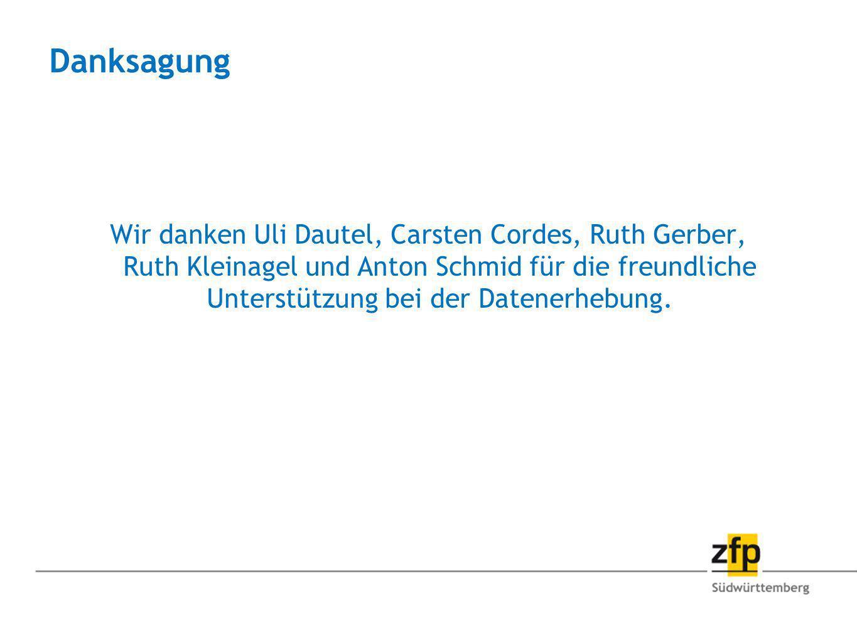 Danksagung Wir danken Uli Dautel, Carsten Cordes, Ruth Gerber, Ruth Kleinagel und Anton Schmid für die freundliche Unterstützung bei der Datenerhebung