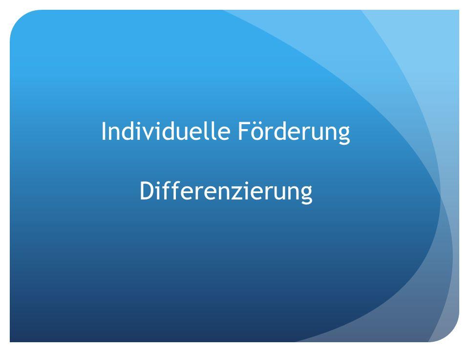 Individuelle Förderung Differenzierung