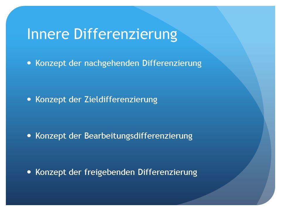 Beispiel zur nachgehenden Differenzierung Die Schüler bekommen 3 unterschiedlich schwere Texte zum gleichen Thema.