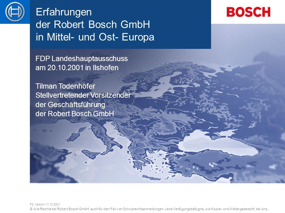 © Alle Rechte bei Robert Bosch GmbH, auch für den Fall von Schutzrechtsanmeldungen. Jede Verfügungsbefugnis, wie Kopier- und Weitergaberecht, bei uns.