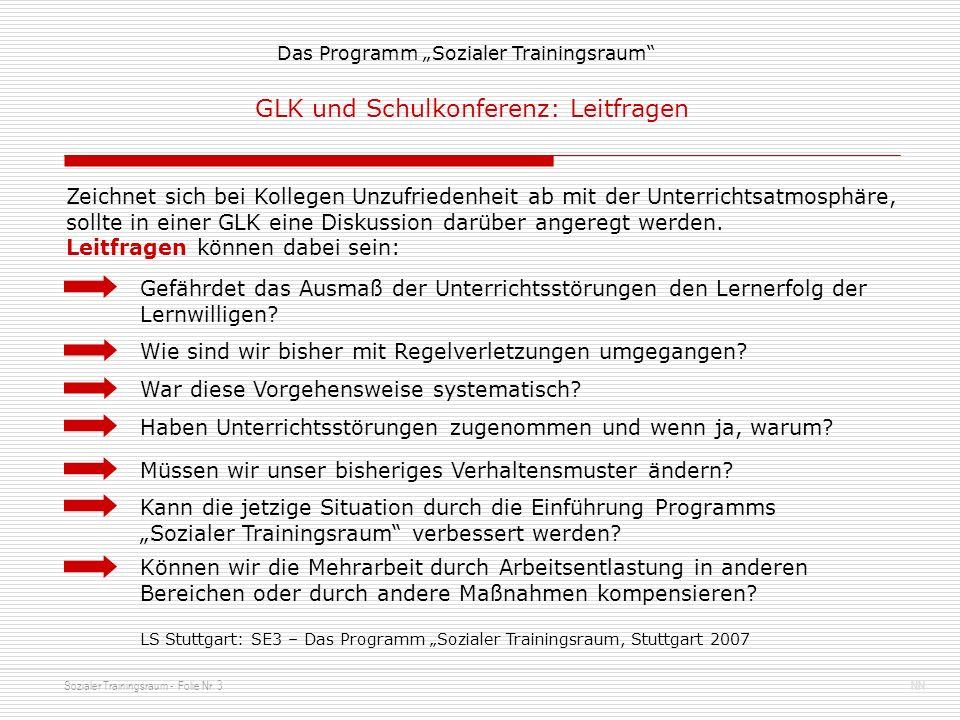 Sozialer Trainingsraum - Folie Nr.