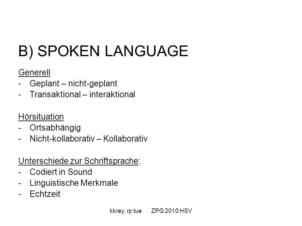 kkrey, rp tue ZPG 2010 HSV Sprachverarbeitung: automatisiert (Konzentration auf Inhalt ist möglich) kontrolliert (großes Augenmerk auf Sprachverständnis, Folge: Inhaltsverständnis bleibt auf der Strecke)