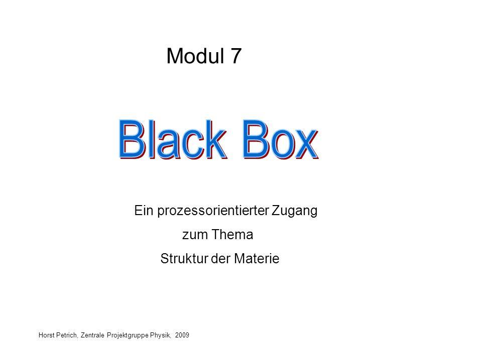 Horst Petrich, Zentrale Projektgruppe Physik, 2009 Ein prozessorientierter Zugang zum Thema Struktur der Materie Modul 7