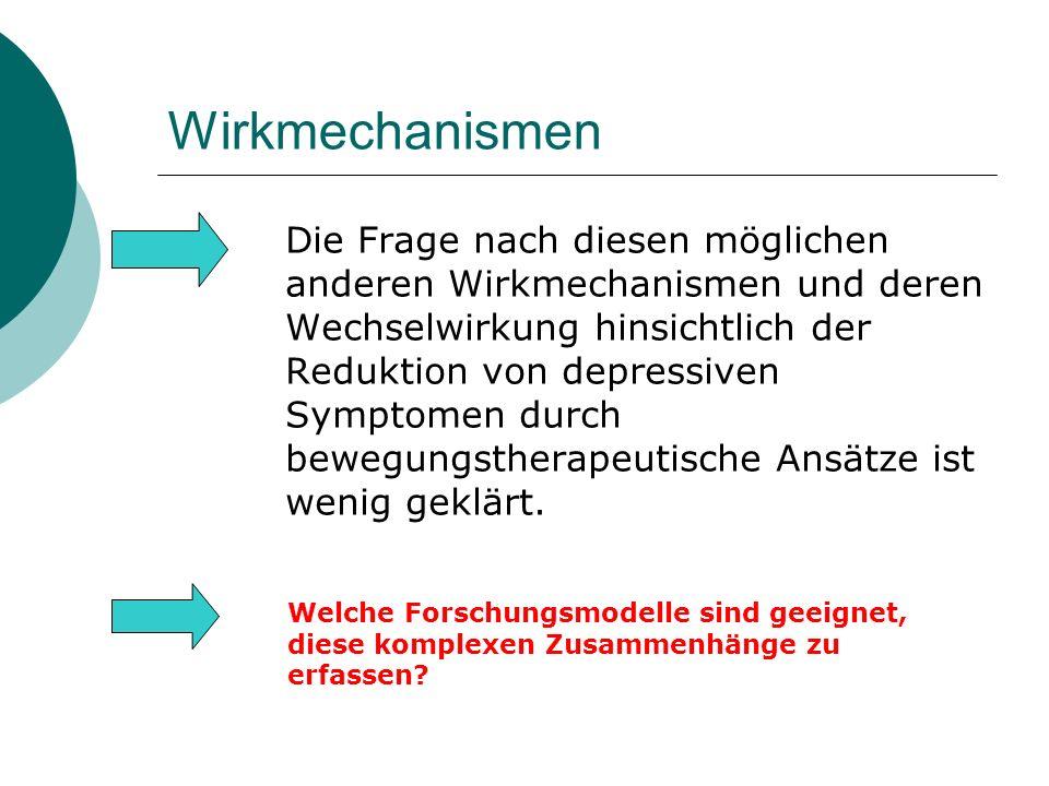 Wirkmechanismen Die Frage nach diesen möglichen anderen Wirkmechanismen und deren Wechselwirkung hinsichtlich der Reduktion von depressiven Symptomen