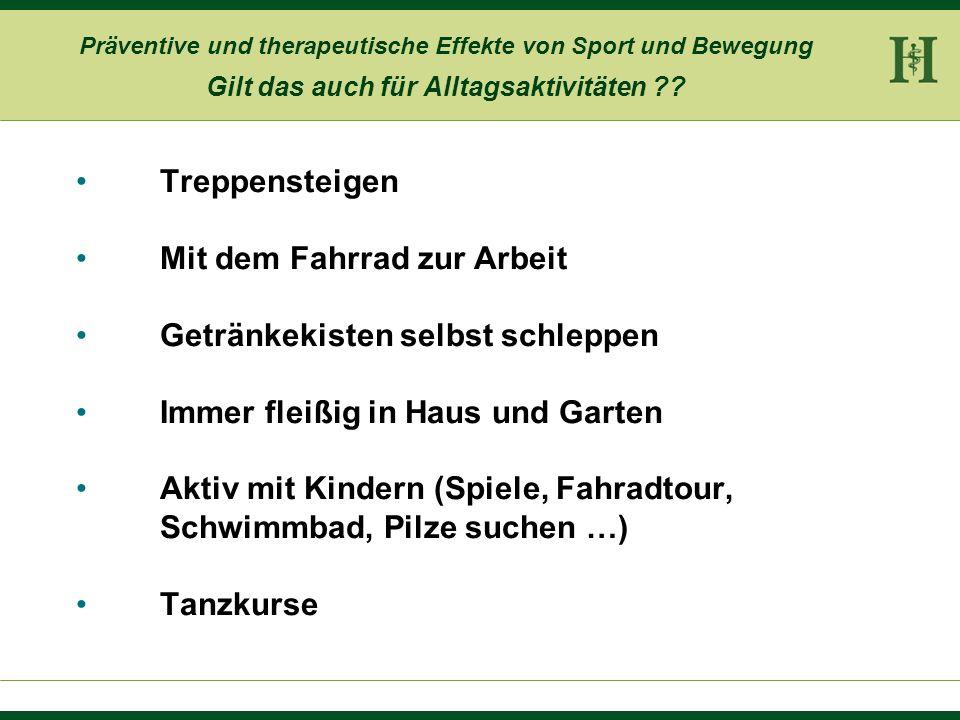 Präventive und therapeutische Effekte von Sport und Bewegung Neurobiologische Effekte Metabolische Effekte Kraft, Ausdauer, Beweglichkeit Psychologisc
