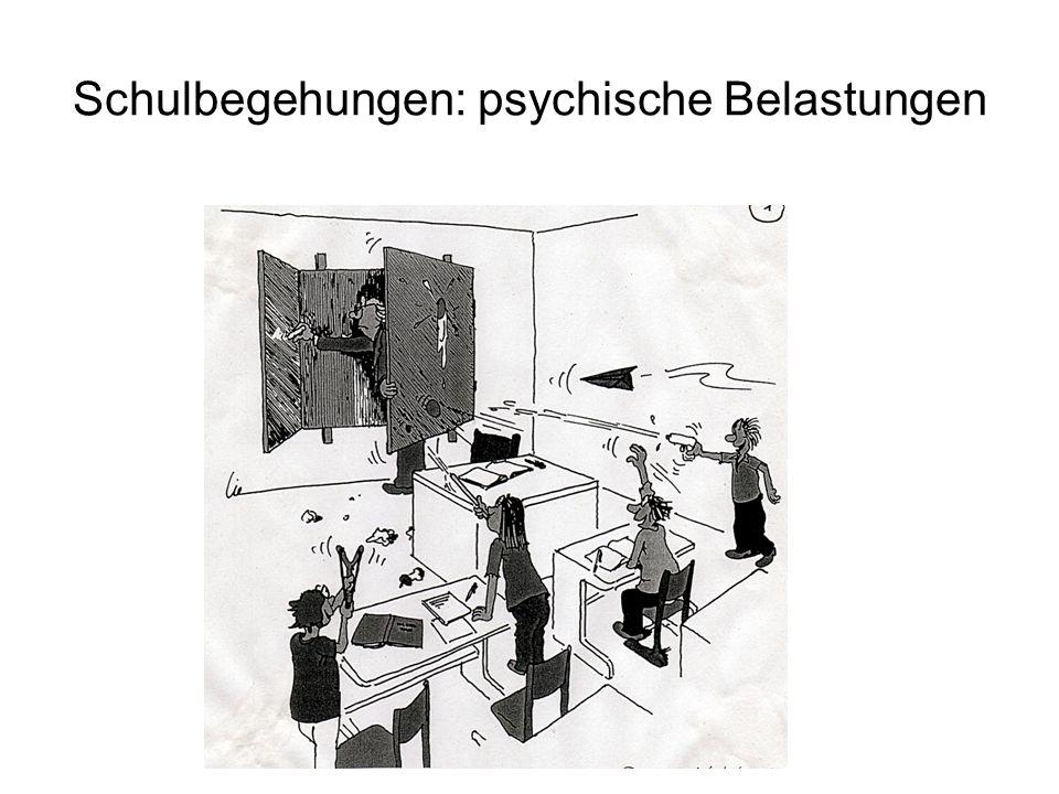 Schulbegehungen: psychische Belastungen