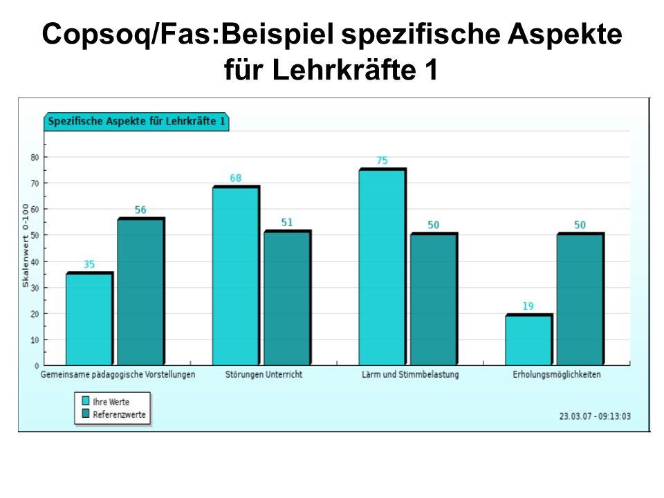 Copsoq/Fas:Beispiel spezifische Aspekte für Lehrkräfte 1