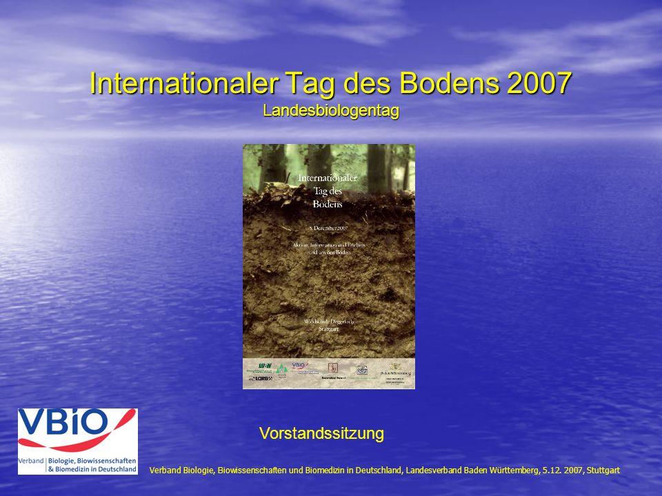 Verband Biologie, Biowissenschaften und Biomedizin in Deutschland, Landesverband Baden Württemberg, 5.12.
